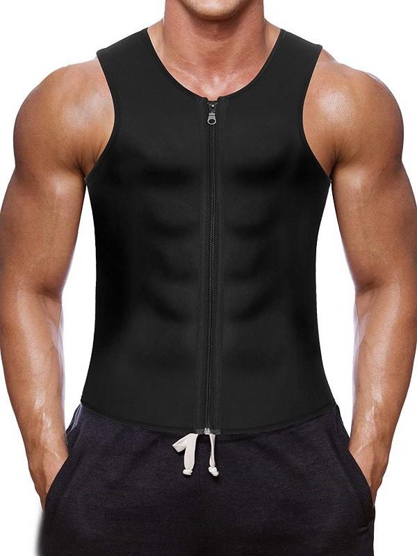 Wonderience Men Waist Trainer Vest Hot Neoprene Sauna Suit