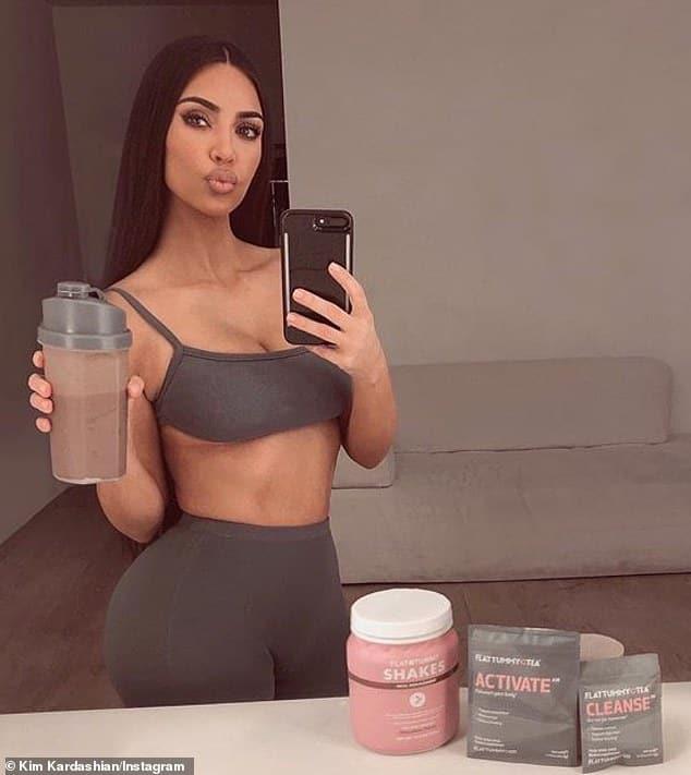 Kim Kardashian Ad for Flat Tummy Tea
