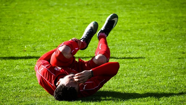 player in pain