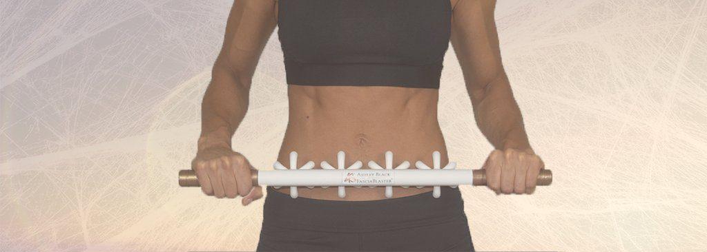 fasciablaster on a womans tummy