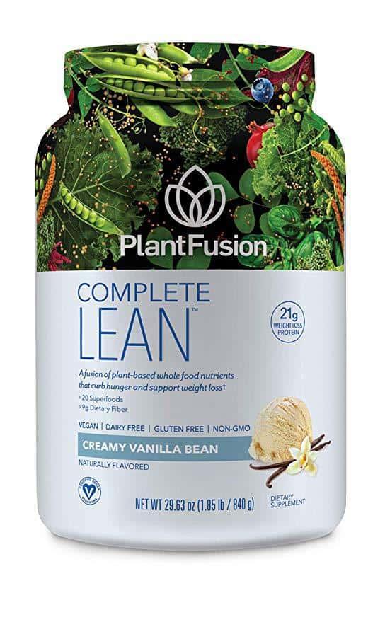 PlantFusion Lean Plant Based Weight Loss Protein Powder, Vanilla Bean, 29.06 oz Tub, 20 Servings, 1 Count, Gluten Free, Vegan, Non-GMO