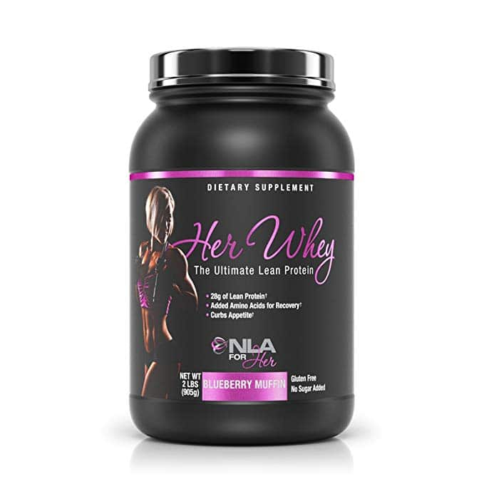 NLA for Her - Her Whey - Ultimate Lean Whey Isolate Protein - 28g of Lean Protein, Added Amino Acids for Recovery, Builds Muscle, & Helps Curb Appetite -