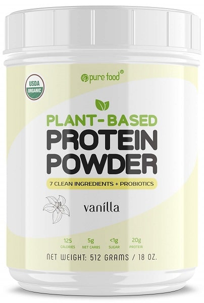 Pure Food Plant Based Protein Powder with Probiotics