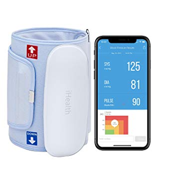 iHealth Feel Wireless Blood Pressure Monitor Compact & Portable Digital Upper Arm Cuff - Bluetooth Compatible for Apple & Android Devices (Standard Cuff)