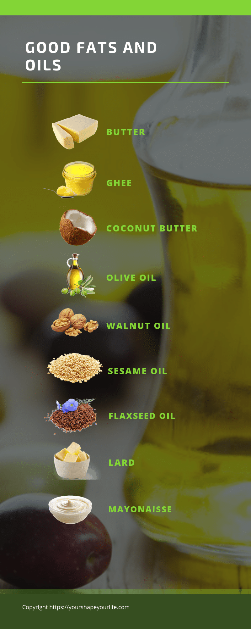 GOOD FATS AND OILS