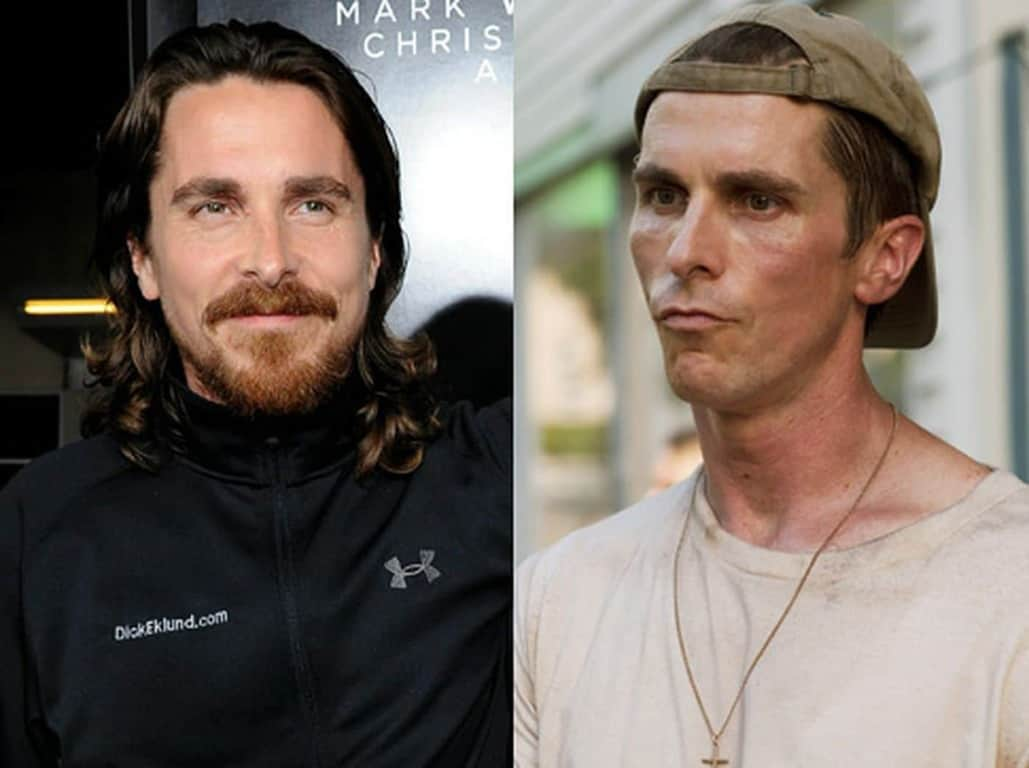 Christian Bale is one of the celebrities that have lost weight for a movie role