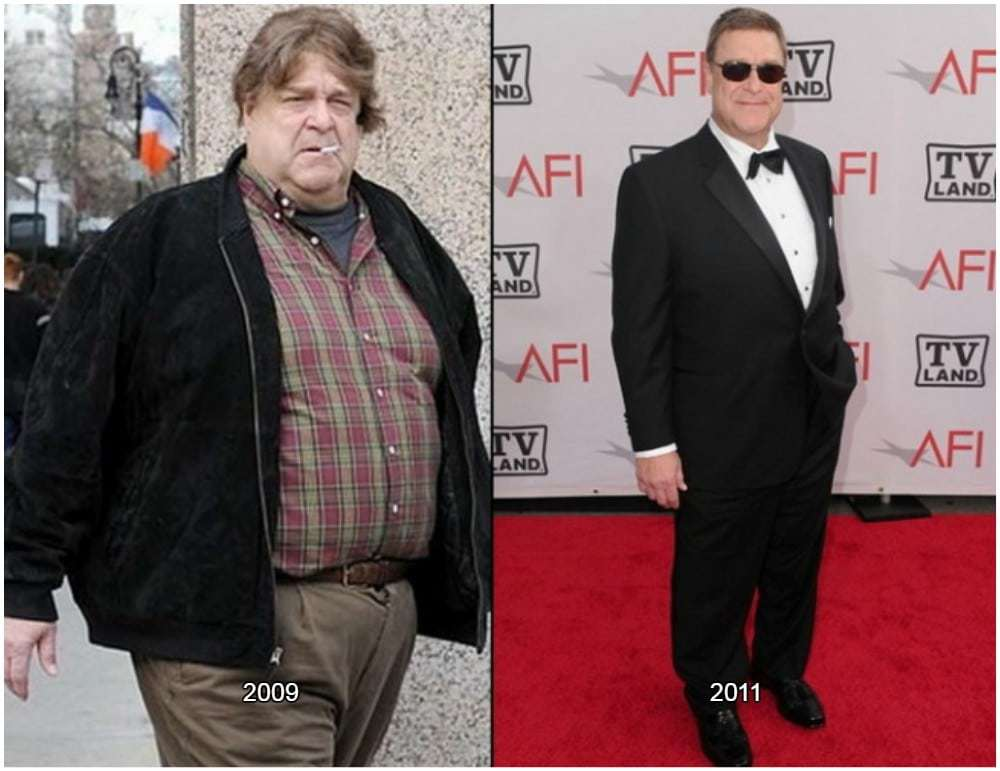 John Goodman is one of the best examples of celebrities that have lost weight