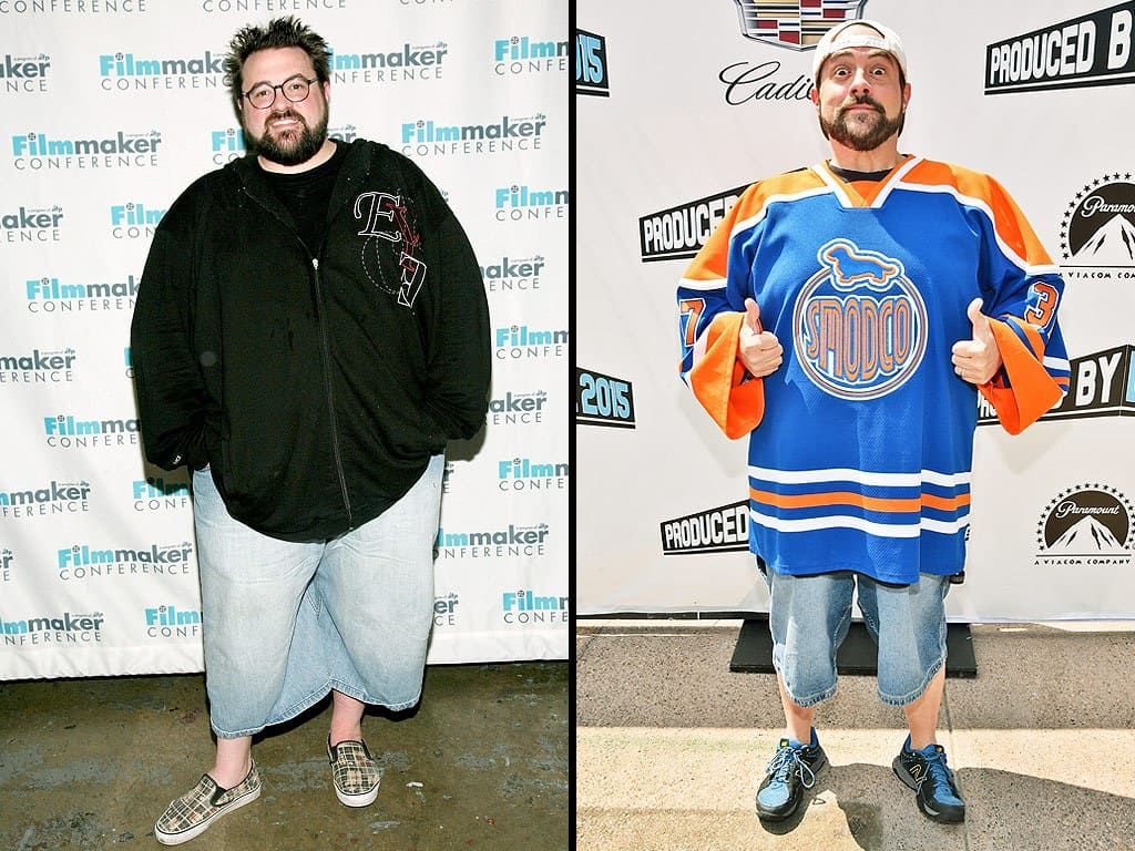 Kevin Smith is one of the celebrities that have lost weight on a vegan diet