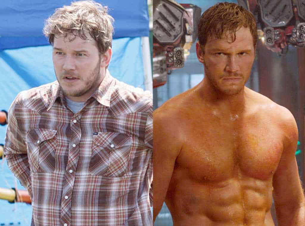Chris Pratt is one of the celebrities that have lost weight with exercise