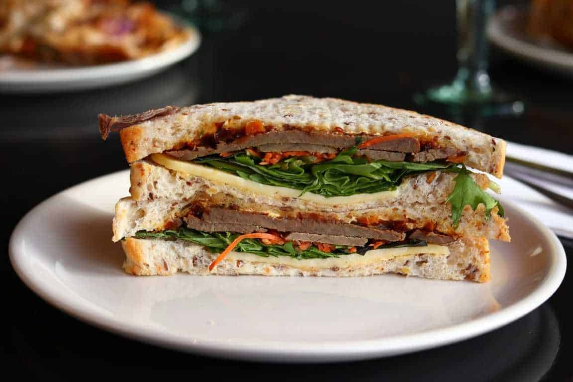 healthy sandwich on a plate for lunch ideas