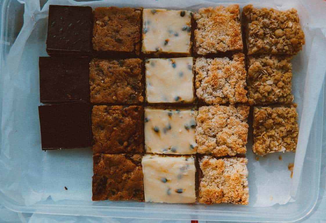 assorted food bars