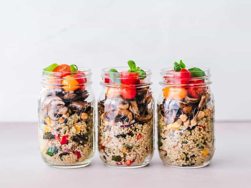 meal prep in mason jars