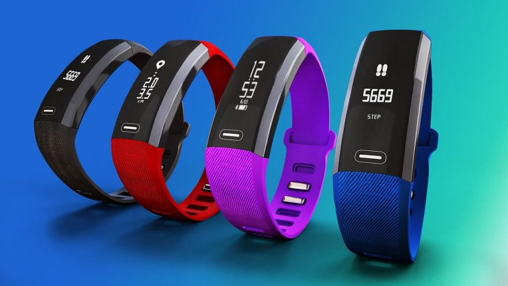 a set of the best fitness tracker for kids in different colors